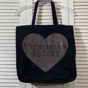 Victoria's Secret Rhinestone Heart Tote